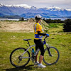 Wyn biking at Lake Wanaka