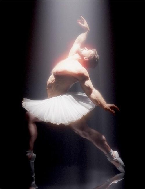 a render of a man with facial hair dancing ballet