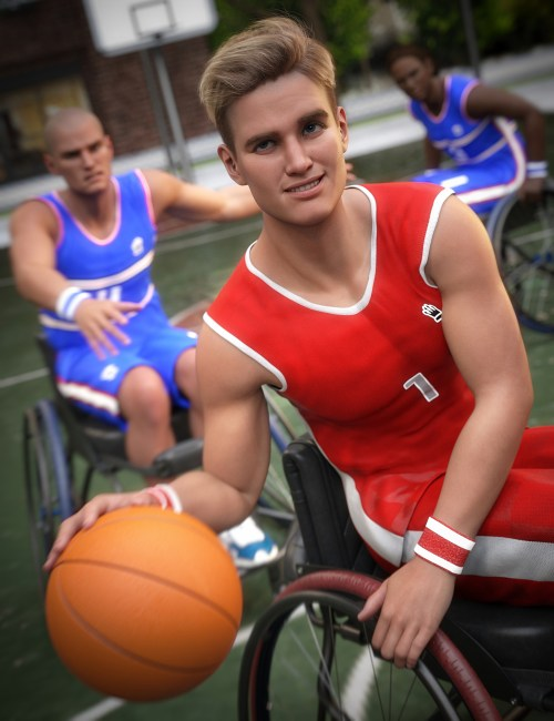 Michael 8.1 and his friends playing basketball in sport wheelchairs despite their disabilities
