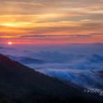 Pop Goes the Sun Over The Blue Ridge Mountain