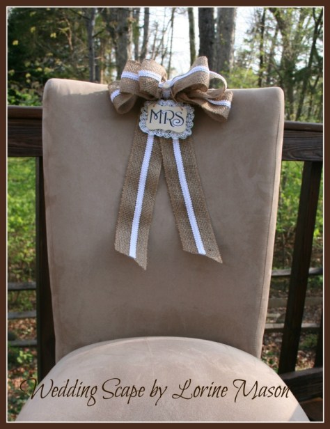 Decorative Trimmings Outdoor Wedding Scape Chair Bow