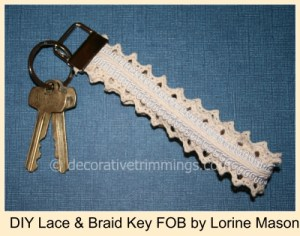 DIY Lace & Braid Key FOB