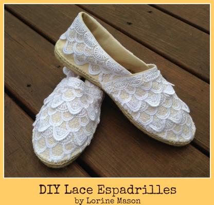DIY Lace Espadrilles