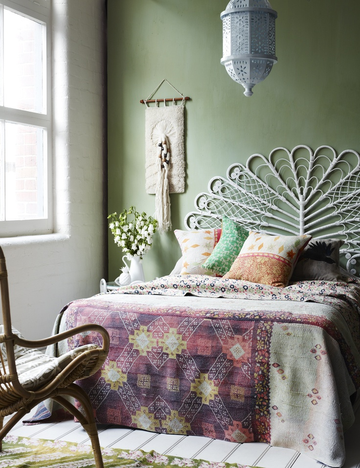 Bohemian bedrooms styled five ways  Decorators Notebook