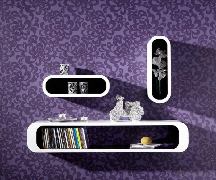 Wandregal - Lounge Cuben Oval Black Inside - delife.eu