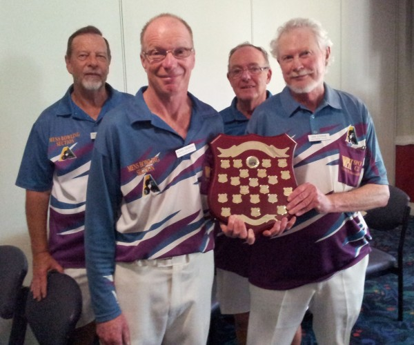 Winners: Michael Dalgairns, Ian Corke (front) Runners Up: Kevin Tuckerman, Geoff Seamon