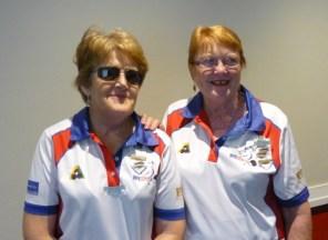 Kaye Eagle and June Huntley - Major Singles finalists