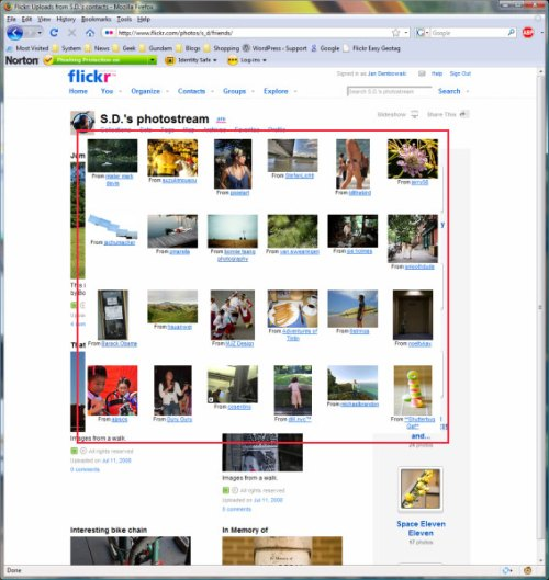 Firefox 3 problem with Flickr
