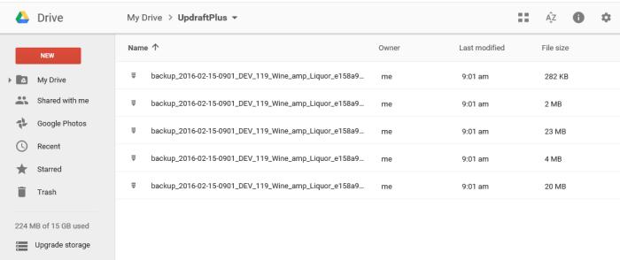 google-drive-updraft-backup