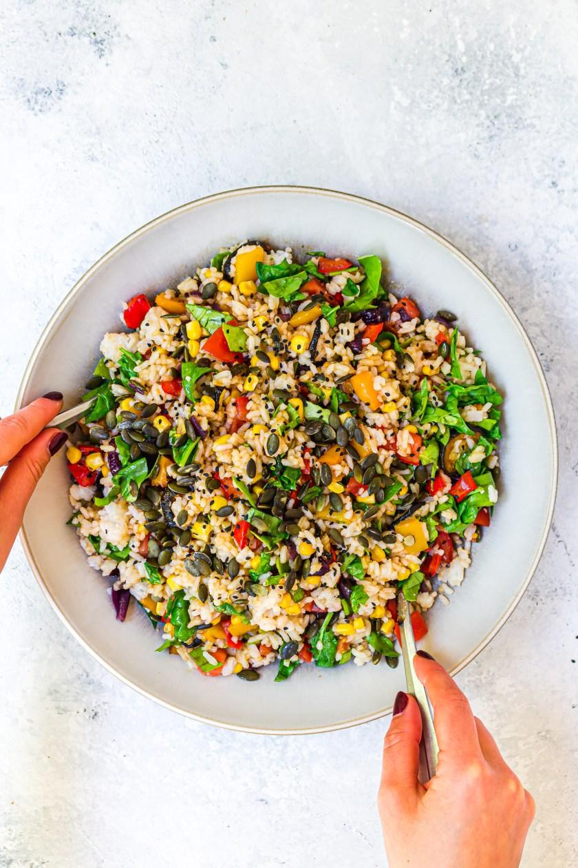 Balsamic Roasted Vegetable Rice Salad 6