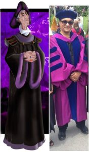 Apparently I look like Frollo from the Hunchback of Notre Dame (courtesy of Dominique Menard and Rula Charaf)