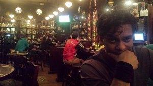 At the Dublin Pub in Jerusalem