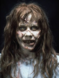 Linda Blair before her morning coffee