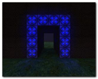 Glowing Blue Base Entrance