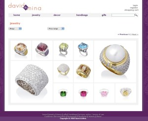 Screen capture of the page displaying my photography of Mina's rings