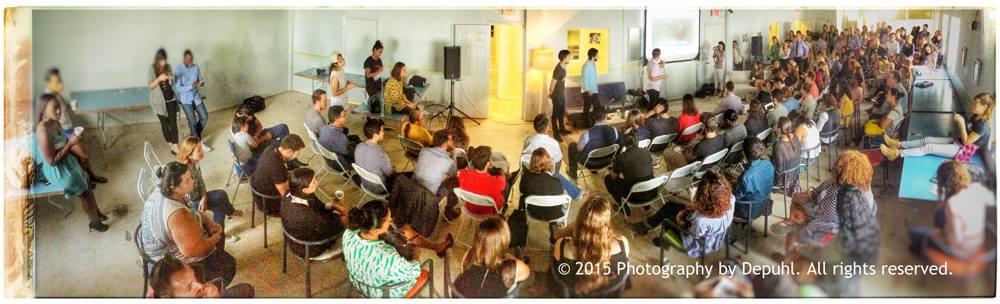 "Full house at CreativeMornings Miami April talk called ""humility"""