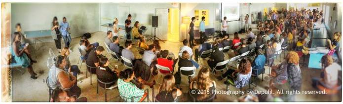 "Full house at CreativeMornings Miami April talk called ""humility"""