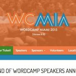 Speaking at WordCamp Miami – again