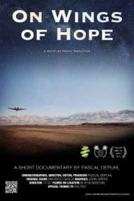 On Wings of Hope movie poster. This documentary won a gold award at a competition for marketing.