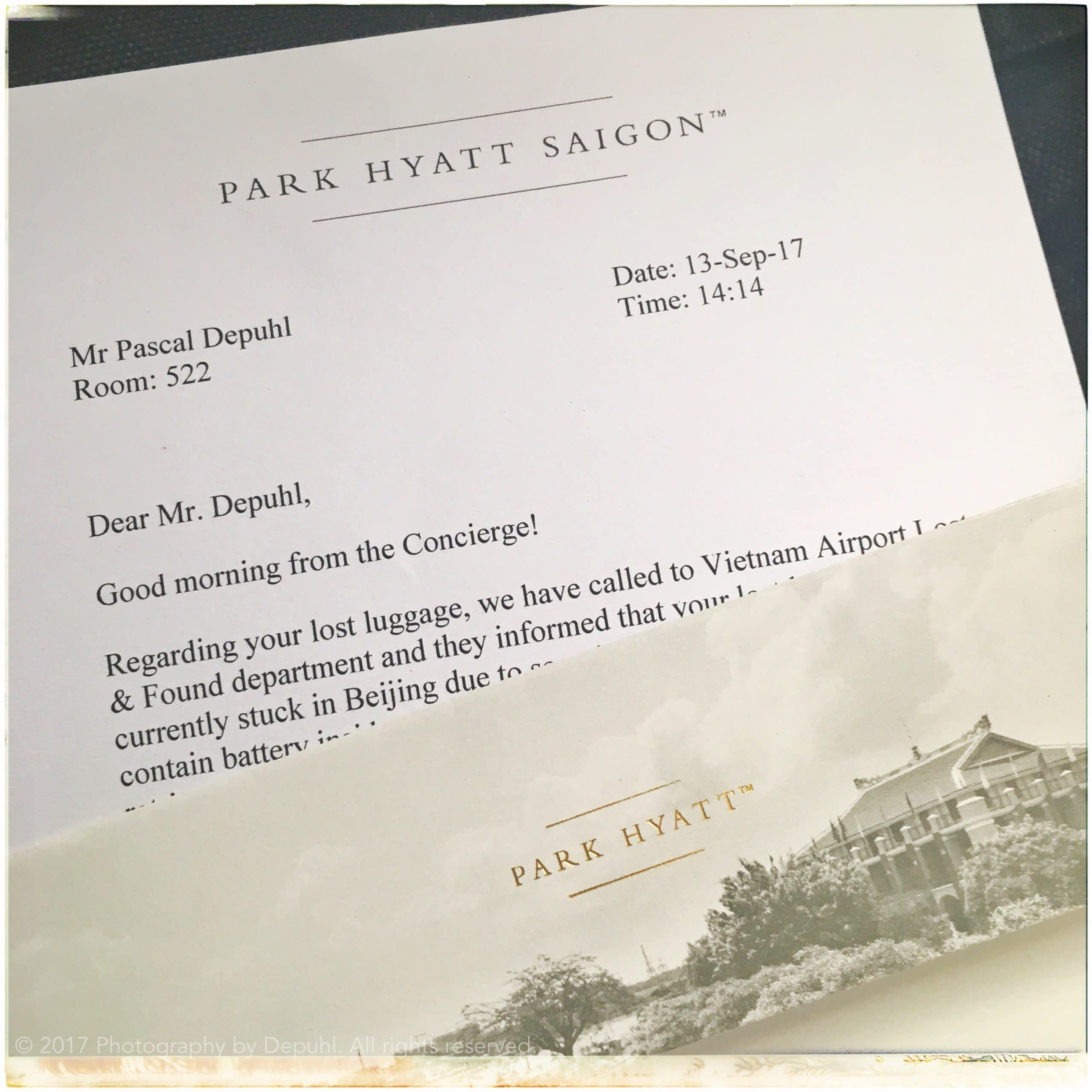 The Park Hyatt finally fixed the mistake that wasn't theirs