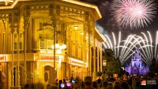 2014 03 Fine Art Disney Fireworks 14 - Main Street Castle Magic