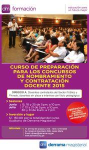 DM Formación cursos evaluación de nombramiento y contratación docente