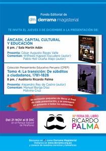 Fondo Editorial de Derrama Magisterial Feria Ricardo Palma 2015