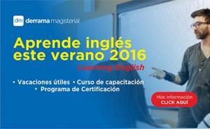 Aprende inglés este verano con Derrama Magisterial