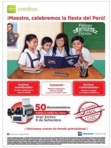 DM Créditos anuncia su Campaña de Créditos por Fiestas Patrias 2016