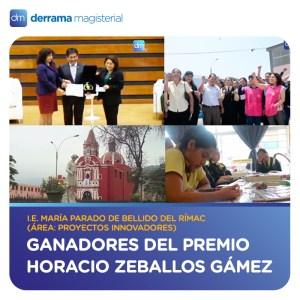 Conoce a los ganadores del Premio Horacio 2016: Colegio María Parado de Bellido (Rímac)
