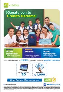 """DM Créditos lanza su campaña """"Gánate con tu Crédito Derrama"""""""