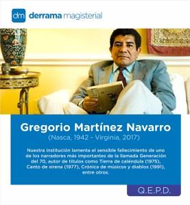 In Memoriam: Gregorio Martínez Navarro (1942-2017)