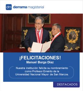 Nuestra institución saluda al Dr. Manuel Burga Díaz, Profesor Emérito de San Marcos