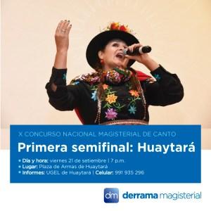 Concurso de Canto Magisterial: Este viernes será la Primera Semifinal en Huaytará