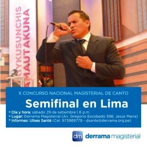 Concurso de Canto 2018: Y ahora es el turno de Lima