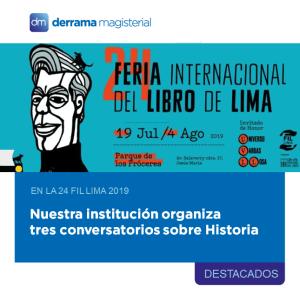 Derrama Magisterial organiza conversatorios sobre historia en la FIL Lima 2019