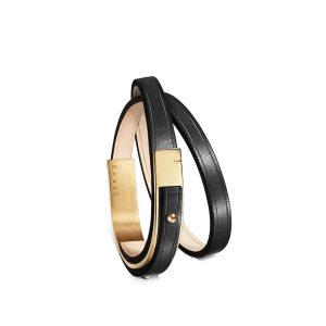Bracelet-femme-u-turn-revolution-cuir-noir-doré-ursul
