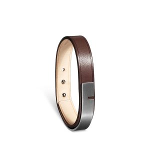 Bracelet-homme-u-turn-11-chocolat-acier-ursul