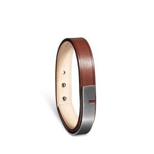 Bracelet-homme-u-turn-11-marron-acier-ursul