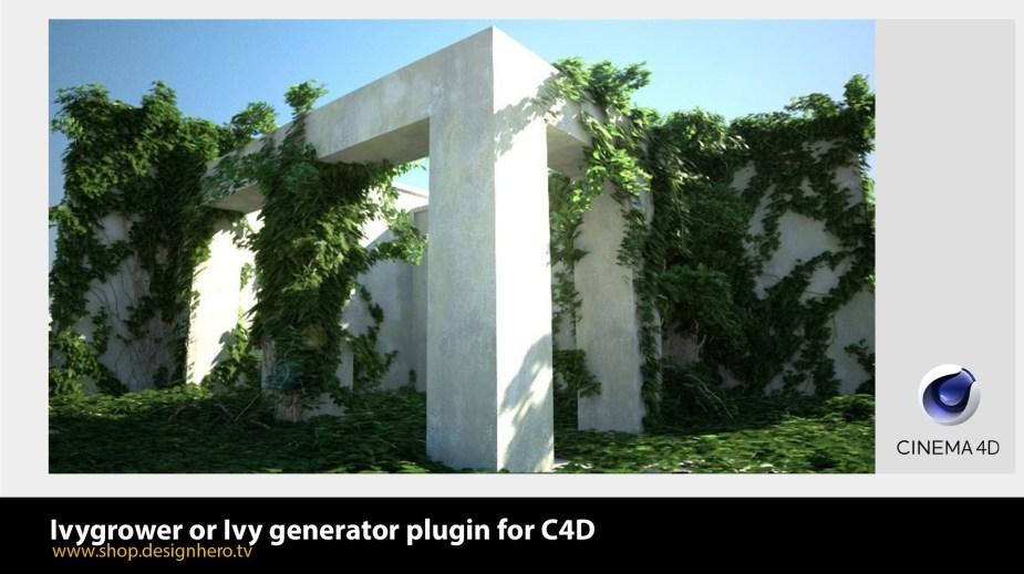 Ivy generator or Ivygrower plugin for C4D.
