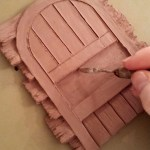fairy door in wax/clay