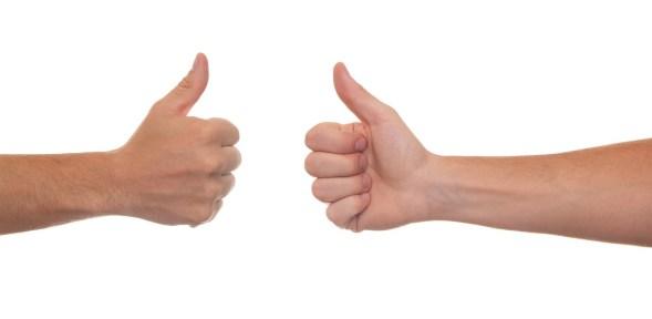 Thumbs up. Duolingo English Test