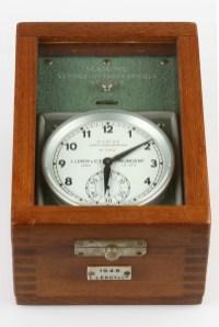 "Marinechronometer ""Chronostat"" Nr. 1948, Leroy & Cie., Frankreich um 1960 (Inv. 2008-021)..."