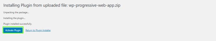Activate Progressive Web App (PWA) & Push notifications plugin