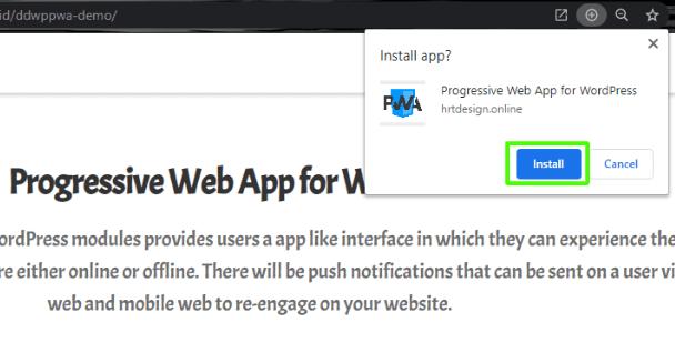 Progressive Web App (PWA) Desktop  app