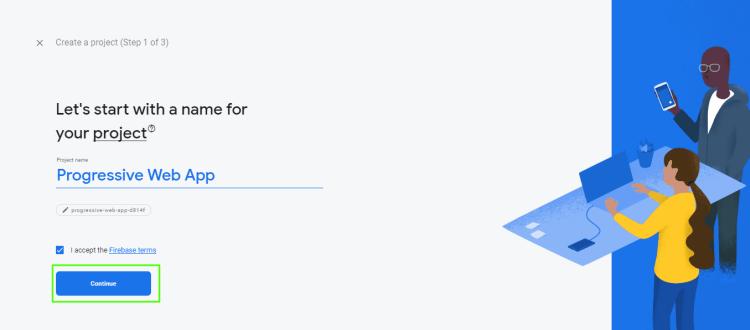 Push Notifications Firebase setup step 2
