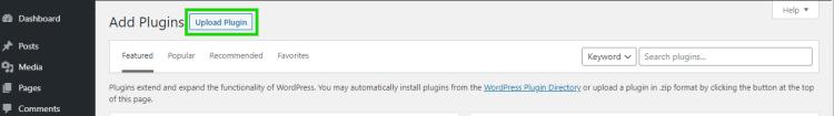 Upload new plugin