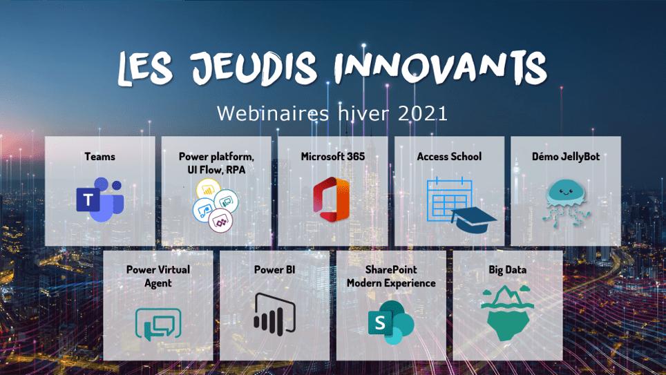 Webinaires 2021 : les Jeudis Innovants de Devolis