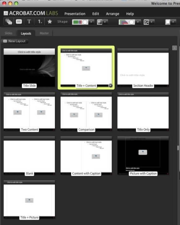 Presentations Sayfa Yapısı