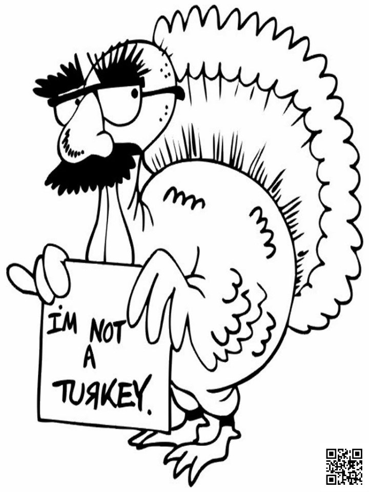 I'm Not A Turkey - Thanksgiving  Coloring Page